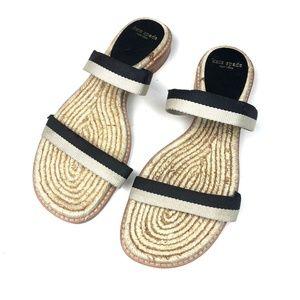 Kate Spade Flat Espadrille Slide Sandals